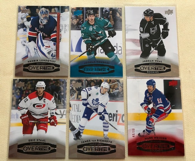 Upper Deck Overtime Winnipeg hockey card blogger collector