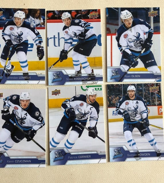 Manitoba Moose hockey cards Winnipeg card collecting blog