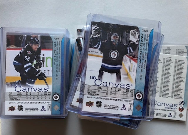 Upper Deck Canvas Winnipeg Jets hockey card collector blog