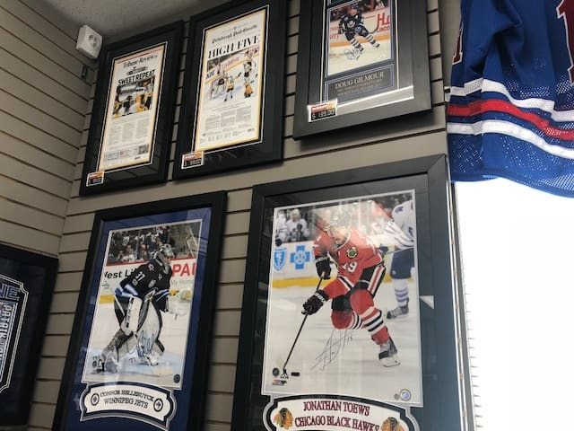 Winnipeg sports card store Joe Daley's