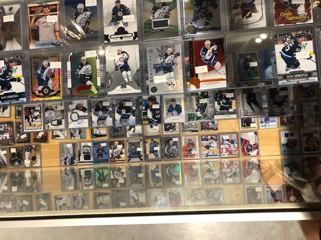 AJ's sports card store Winnipeg Manitoba