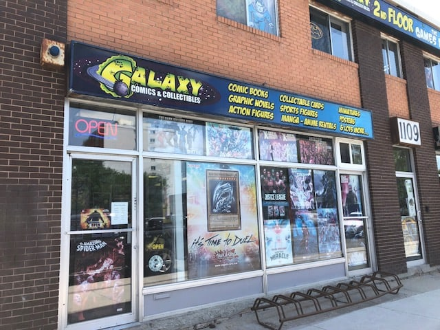 Galaxy Comics Winnipeg Manitoba sports card store