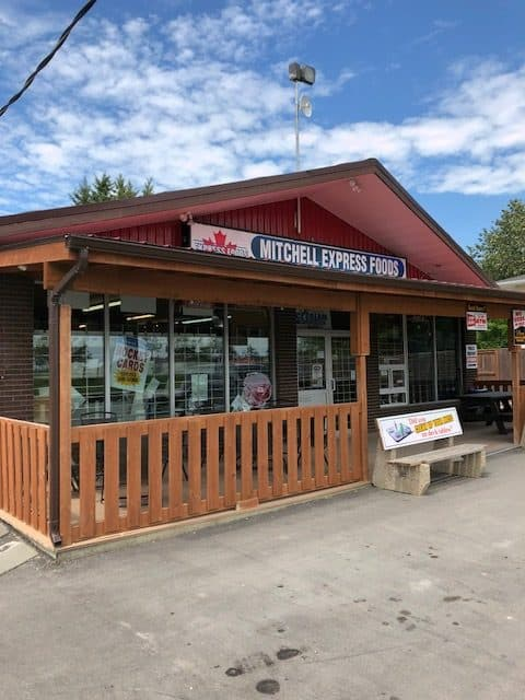 Mitchell Express Foods Manitoba sports card store Steinbach