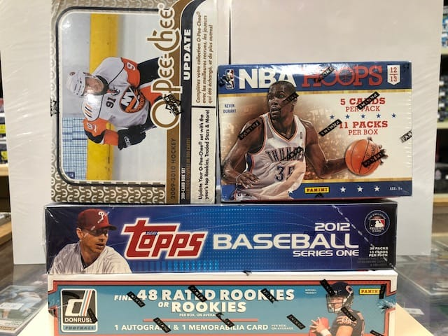 baseball cards hockey cards football cards birthday party game