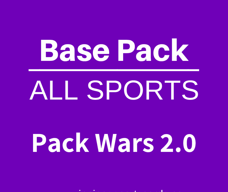 Pack Wars All Sports hockey cards baseball card games basketball cards football cards birthday party game idea
