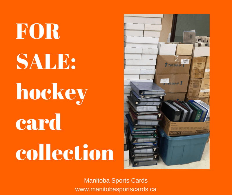 Which stores in Winnipeg buy hockey card collections?