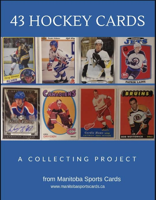 Winnipeg Manitoba hockey card collecting project family hobby