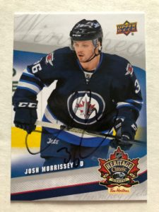 Josh Morrissey Winnipeg Jets Favourite NHL Hockey Player Upper Deck