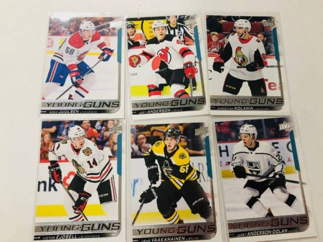 Hockey Rookies, Hockey Young Guns hockey cards