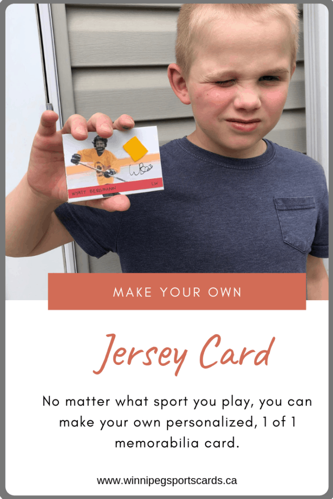 make your own jersey card